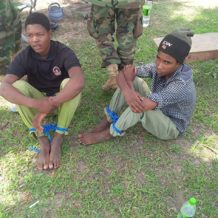 Foreign fighters captured in raid on Boko Haram camps in Balmo Forest (Photo: Defence HQRT)