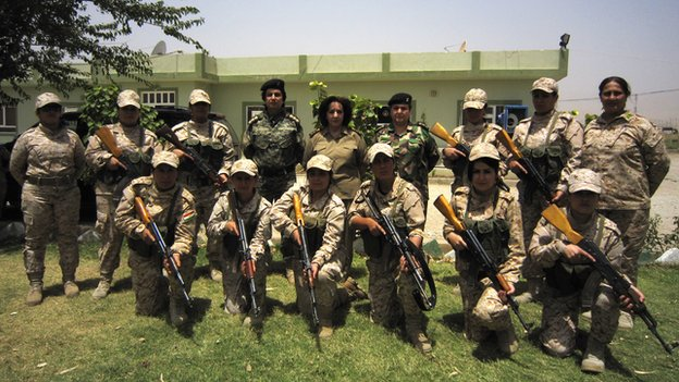 The women will be part of a mission to secure the city of Kirkuk and its surrounding oil fields [Photo Credit: CNN]