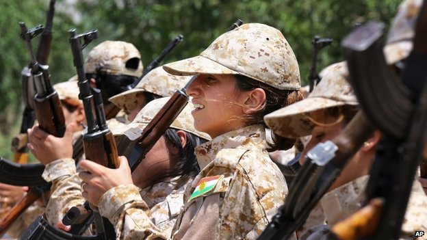 The Peshmerga say that they are determined to protect Kurdistan and the Kurdish people [Photo credit: CNN]