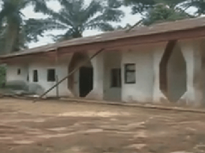 The 8-bedroom apartment used by Kidnappers in Imo state [Photo Credit: Daily Times]