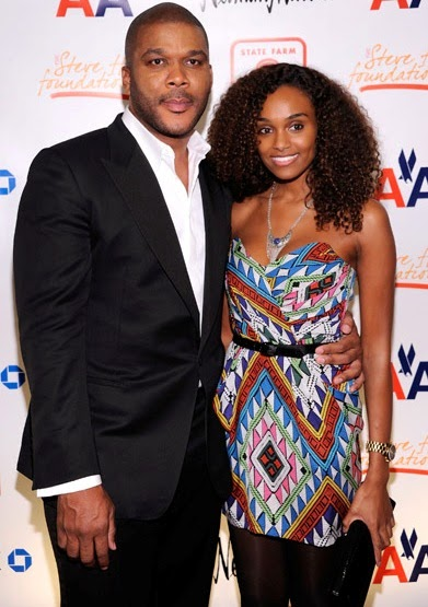 Tyler Perry and his girlfriend, Ethiopian model and philantropist Gelila Bekele