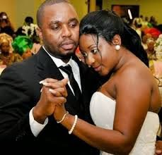 Ini Edo and husband Phillips Ehiagwina on their wedding in November 2008