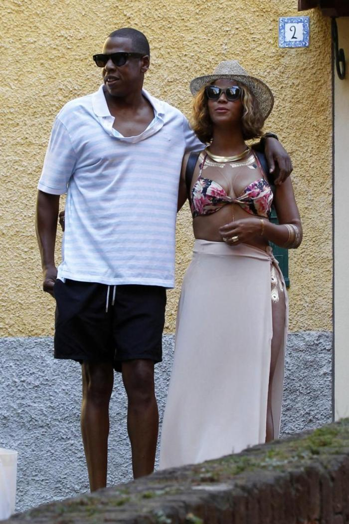 Beyoncé and Jay Z in Italy (Photo Credit: Mail Online)