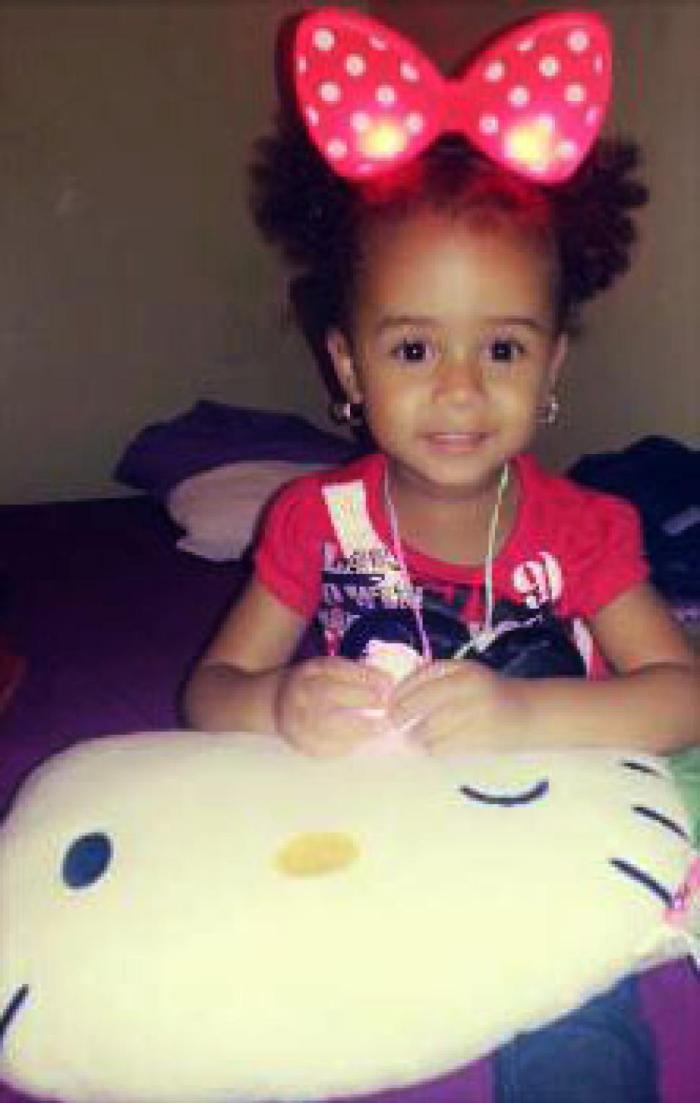 A 3-year old Jeids Torres was on Saturday, October 18, 2014 beaten to death by her mum's 20-year old boyfriend, Kelsey Smith (Photo Credit: New York Daily News)