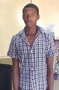 The suspect Adamu Ibrahim [Photo Credit: Vanguard]