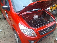 The Red Car Constructed By Covenant University Students(Photo Credit:Nairaland Forum)