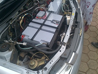 The Engine Of The Ash Coloured Car Constructed By Covenant University Students(Photo Credit:Nairaland Forum)