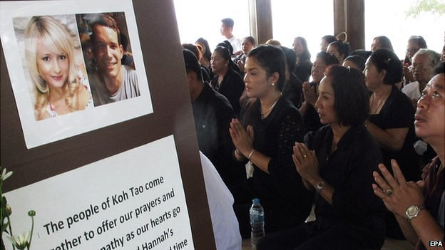 Mr Miller's family said they had been particularly touched by vigils held by people on Koh Tao [photo credit: EPA]