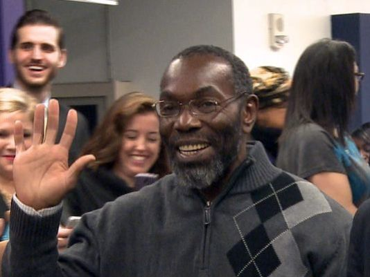 Ricky Jackson, 57, who served 39 years in prison for a murder he didn't commit, walks out of Cuyahoga County Common Pleas Court a free man. (Photo Credit: Dan Bowman, WKYC-TV, Cleveland)