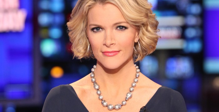In this March 6, 2012 file photo provided by Fox News, Fox News anchor Megyn Kelly poses at the anchor desk at the Fox studios in New York. (Photo Credit: AP/Fox News, Alex Kroke)