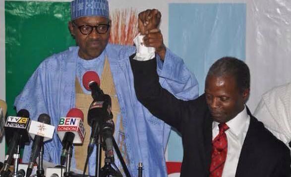 APC presidential and vice presidential candidate, Gen Muhammadu Buhari and YEmi Osinbajo