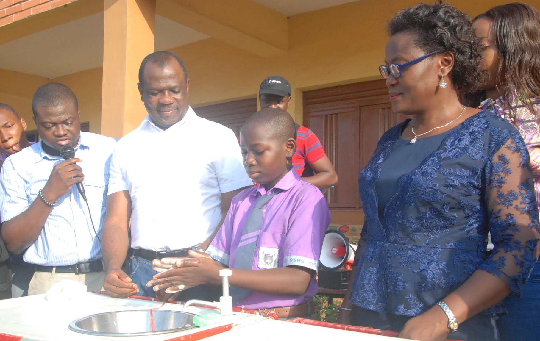Unilever handwashing activity at Oregun High school 2