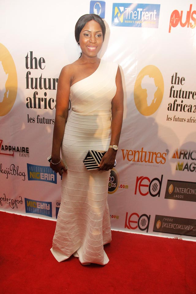 Linda Ikeji pictured on December 7 at the red carpet of The Future Awards Africa 2014 (Photo Provided By Red Media)