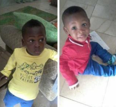 The two boys, Rafael and Michael who were reportedly kidnapped by their house help on the night of Sunday, December 7, 2014, at Isheri Magodo Estate,Lagos state. (Photo Credit: Porsche Classy)