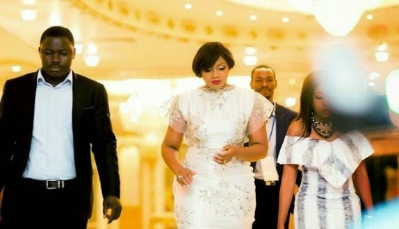 Omotola Jalade at her 20th anniversary in Nollywood on Saturday, January 24, 2015 in Abuja (Photo Credit: Linda Ikeji)
