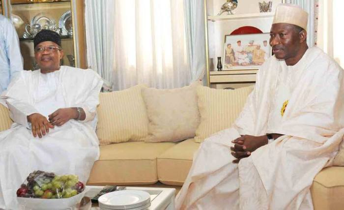 General Ibrahim Babangida and President Goodluck Jonathan when the President paid the former military President at his residence in Minna, Niger State (Photo Credit: Naij.com)