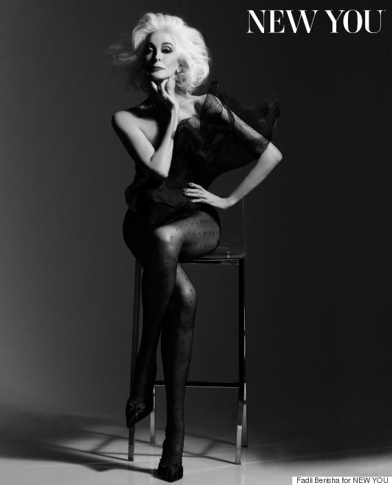 Carmen Dell'Orefice, for New You Magazine (Photo Credit: Huffington Post)