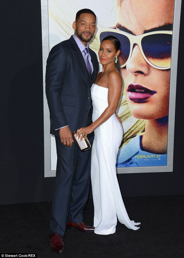 Will Smith and Jada Smith at the Los Angeles premiere for his new film Focus on Tuesday, February 24, 2015 (Photo Credit: Mail Online)