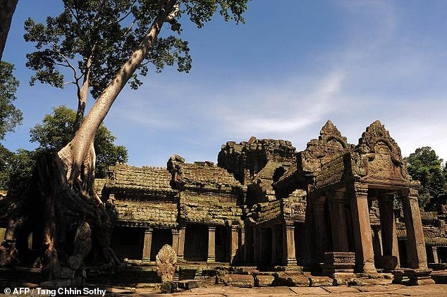 Scene of the incident at Cambodia's sacred Angkor temple where Lindsey Adams, 22, and her sister Leslie, 20, were arrested and detained on Friday, February 7, 2015 for taking naked pictures. (Photo Credit: Cambodia Expats Online)