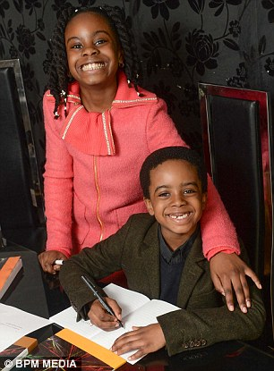 Esther and her brother Isaiah Okade (Photo Credit: Mail Online)