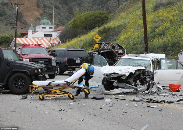 Bruce Jenner involved in a fatal car accident on Saturday, February 7, 2015 in Malibu on the Pacific Coast Highway (Photo credit: Mail Online)