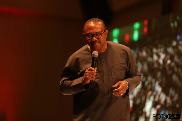 Former Anambra Governor Peter Obi at the Meet The President event at Eko Hotel, Lagos on March 1, 2015 (Photo Credit: Foto Fashion/PVC)