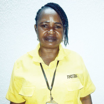 Josephine Ugwu, the cleaner at the Murtala Muhammed International Airport who returned a passenger's luggage containing about N12 Million has received a salary increment of N&, 200 making her total salary N15, 000. (Photo Credit: Punch)