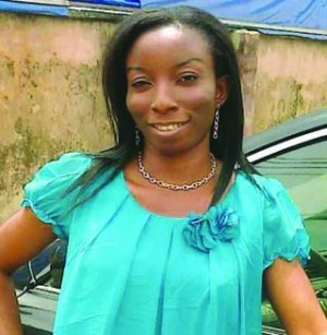 Late Adekemi Faboro, who taught at a private nursery and primary school, in Ojota,died in Ogba area of Lagos last weekend after a date with her married Facebook lover, Christopher Ezekiel, for the first time. (Photo Credit: PM News)