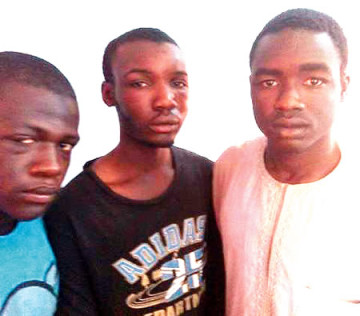 The suspects arrested by Bauchi police command for allegedly Kidnapping a three year old boy in Bauchi (Photo Credit: Punch News)