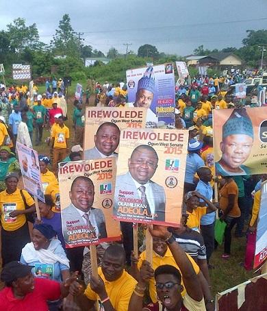 Solomon Olamilekan Adeola's campaign rally in Yewa, Ogun State (Photo Credit: News Punch)