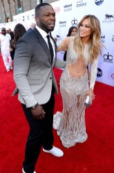 50 Cent and Jennifer Lopez (Credit: Invision/AP)