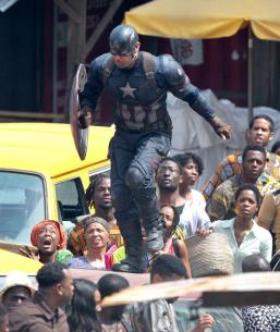 Captain America :Civil War behind the scenes (Photo Credit:yahoomovies.com)