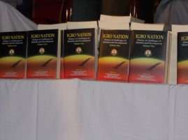 The Book being launched titled IGBO NATION: History & Challenges of Rebirth and Development (Phot Credit: The Trent)
