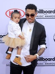 Chris Brown and daughter, Royalty (Credit: Invision/AP)