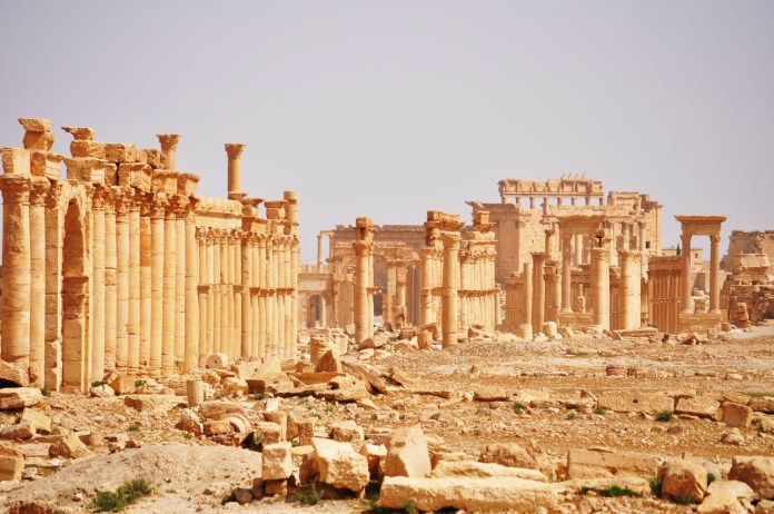 KacMac. Some of the monuments were immovable and couldnt be stolen by ISIS (Photo Credit: Syria Guide)