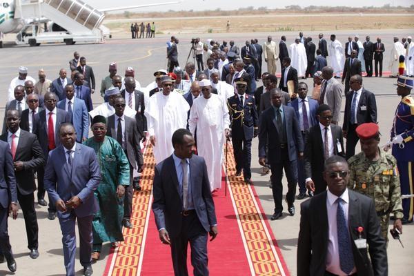 President Buhari In Chad with Idriss deby Photo credit: omonlakiki/twitter)
