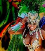 A Beija Flor samba school dancer performs at the Sambadrome in Rio de Janeiro. (Felipe Dana/Associated Press)