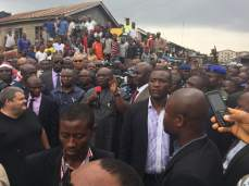 Governor Ikpeazu commissions new roads in Aba, Abia STate on Monday, June 2, 2015 (Photo Credit: Nnaji Obed)
