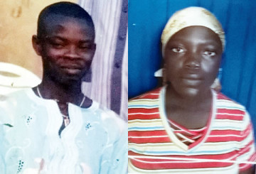 Benonise woman, Kwenume Ojo, (Left) was arrested by men of the Lagos State Police Command for allegedly killing her husband, Jimoh Ojo, 32, (Left) on Friday, June 27, 2015 in the Yaba area of the state. (Photo Credit: Punch)