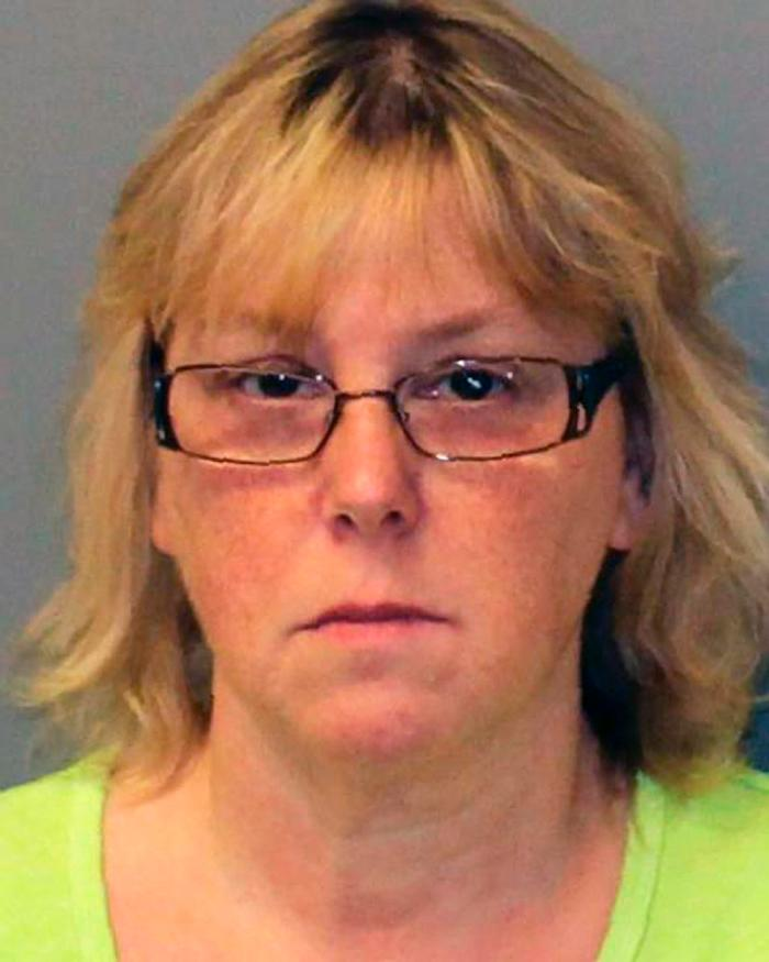 This Friday, June 12, 2015 photo provided by the New York State Police shows Joyce Mitchell. Mitchell is accused of helping inmates David Sweat and Richard Matt escape from the Clinton Correctional Facility in Dannemora, N.Y. on June 6, 2015. Authorities say that Mitchell, a tailor shop instructor at the prison provided some of the tools that the men used in their escape. They are still at large. (New York State Police via AP)