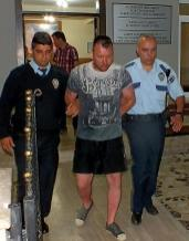 A Polish couple from the UK, Jolanta and Marcin Flakiewicz have been deported to London after the woman stripped off to parade naked around a swimming pool prompting her husband to go on the rampage. (Photo Credit: East Med Media)