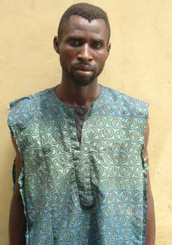 Michael David from Delta State stabbed his estranged wife to death during a confrontation in the Ojoku area of Lagos State. (Photo Credit: Vamguard)