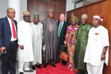 James F Entwistle and the Senate and others (Credit: Tope Brown)