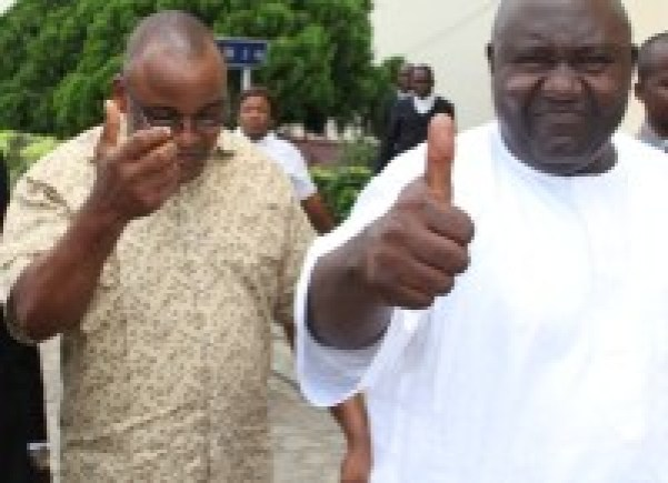 The Economic and Financial Crimes Commission, EFCC, has arraigned Alhaji Yerima Suleiman and Mr. Uwem Essien Antia before Justice Lawal Akapo of a Lagos State High Court sitting in Ikeja on a four-count charge bordering on conspiracy, obtaining money by false pretence and forgery.. (Photo Credit: PR Nigeria)