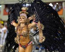 A reveller from the Salgueirol samba school participates in the annual carnival parade in Rio de Janeiro's Sambadrome, February 16, 2015. (Photo Credit: REUTERS/Pilar Olivares )