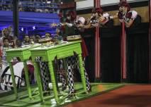 Members of the Samba Grande Rio perform during the carnival parade in Rio de Janeiro, Brazil, 15 February 2015. The Rio de Janeiro Samba Schools celebrated the Carnival in Rio de Janeiro withs some 4,000 dancers and musicians. EPA/ANTONIO LACERDA