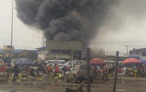 Ajah market on fire (Credit: tmgapp.com)