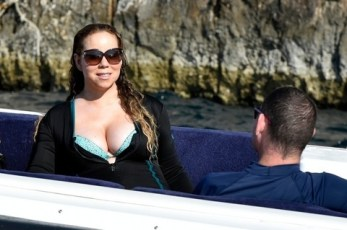Mariah and her babies on display for Packer (Credit: TMZ)