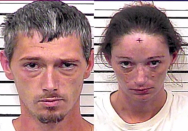 Johnny Allen Richards, 33, and Erin Brooke Lawson,32, in Tennessee has been arrested by Hawkins County Police and charged with assault for stabbing a neighbour who complained of their loud sex noises. (Photo Credit: World Wide Weird News)