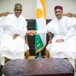 President Buhari of Nigeria and President Issoufou of Niger Republic (Credit: Paul Ibe)